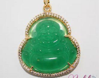 Green Jade Buddha Pendant